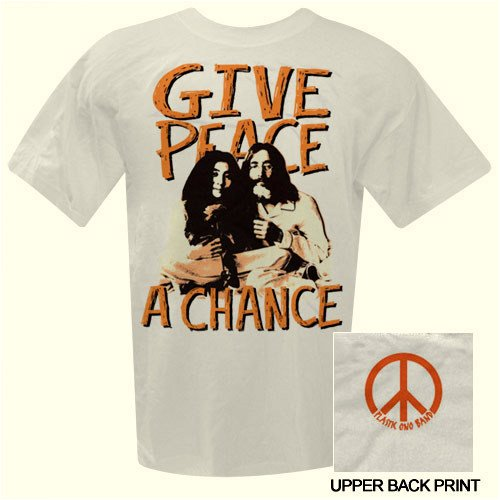 John Lennon white T-shirt 'Bed In / Give Peace A Chance' 2-sided tee (XX-Large)