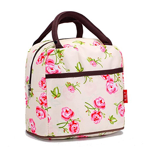 Waterproof Picnic Lunch Bag Tote Insulated Cooler Travel Zipper Organizer Box (Personalized Cooler Tote compare prices)