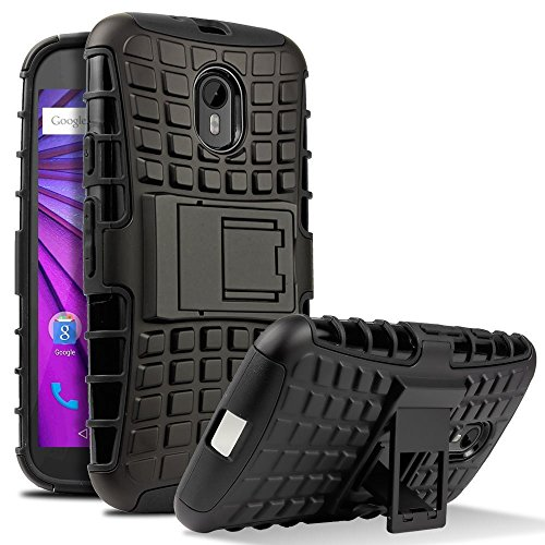 Chevron-Hybrid-Dual-Armor-Kick-Stand-Back-Cover-Case-for-Moto-G-3rd-GenerationMoto-G-Turbo-Black