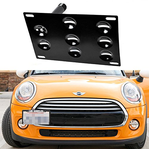 iJDMTOY Front Bumper Tow Hole Adapter License Plate Mounting Bracket For MINI Cooper Countryman Paceman and F55 F56 Cooper (Mini Cooper Front License Bracket compare prices)