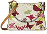 Snoogg Red Butterflies Designer Womens Carry Around Sling Bags
