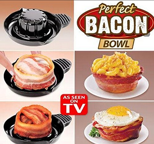 Barboola Perfect Bacon Bowls For The Microwave One Set Of 2 Bowls As Seen On Tv