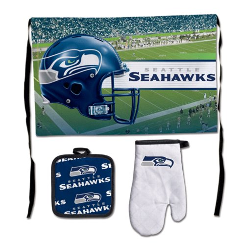 Seattle Seahawks Deluxe BBQ Grilling Set