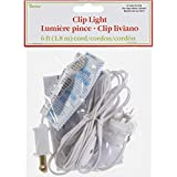 Darice 6402 Accessory Cord with 1 Lights, 6-Feet, White