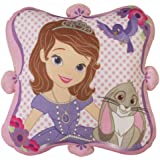 Character World Disney Sofia The First Amulet Shaped Plush Cushion, Multi-Color