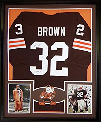 Jim Brown Framed Jersey Signed JSA Authenticated Autographed Cleveland Browns