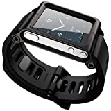 Ocr TM Cool Alumium Watch Band Wrist Strip for iPod Nano 6G Cover Case (Black) (Color: Black)