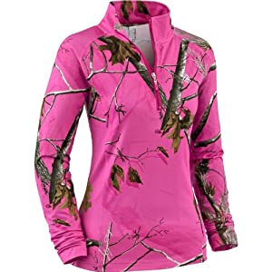 Legendary Whitetails Ladies Performance Realtree Camo 1 4 Zip Mock by Legendary Whitetails