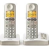 Téléphone Confort XL3052C/FR avec répondeur Duo 2 combinés couleur Perle