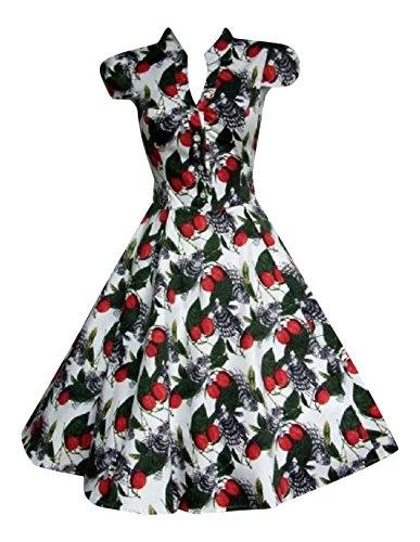 Fruit & Fish Print Vintage Tea Dress