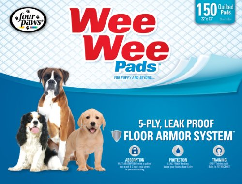 Four Paws Wee-Wee Puppy Housebreaking Pads, 150-Pack (Animal Training Pads compare prices)