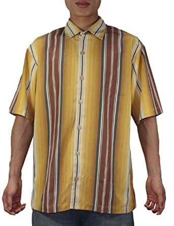 Tommy Bahama Mens Button Down Short Sleeve Striped Camp