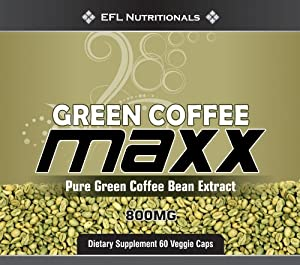 Green Coffee MAXX - The Original Green Coffee Bean Extract with 45% Chlorogenic acid 800mg Per Capsule VegiCaps No Fillers 60 Count