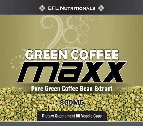 Green Coffee MAXX The Original 100 Green Coffee Bean Extract with 45 Chlorogenic acid 800mg Per Capsule VegiCaps No Fillers 60 Count