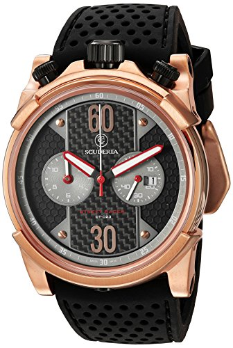 CT-Scuderia-Mens-CS10140-Street-Racer-Analog-Display-Swiss-Quartz-Black-Watch