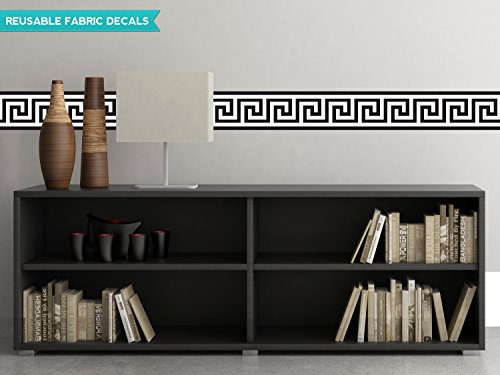 sunny-decals-greek-key-wall-border-fabric-wall-decal-set-of-2-25-x-66-black-white