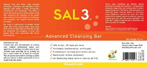 2 Pack SAL3 Cleansing Bar – 3% Salicylic Acid, 10% Sulfur