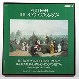 sir arthur sullivan the zoo cox box d 39 oyly carte. Black Bedroom Furniture Sets. Home Design Ideas
