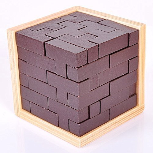 KINGOU Chocolate Box Design Beanstalk Cube 54 T Combination Tetris Blocks Educational Toy - 1