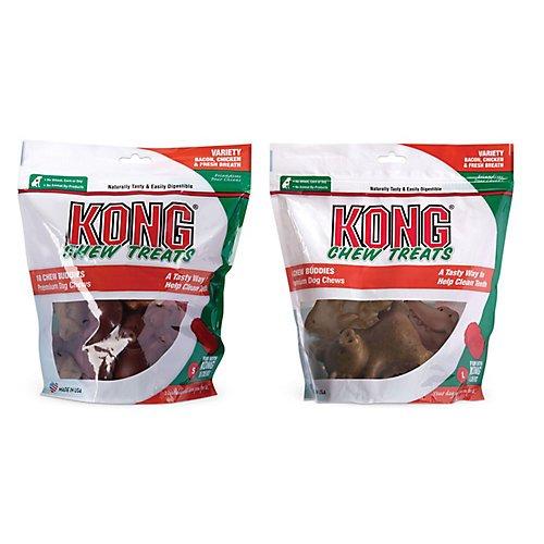 Kong Chew Buddies Variety Bag Dog Chews Large