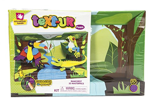 Creative Hands 3553E Text-Ur Foam 3D Kit for Arts and Crafts, 3D Masterpiece Rainforest