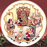 Lenox Large Disney Christmas Cake Plate Very Colorful