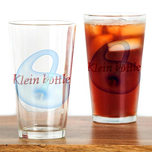CafePress klein-bottle Drinking Glass - Standard White