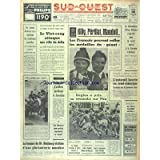 SUD OUEST [No 7298] du 12/02/1968 - LES SPORTS - J.O. D'HIVER AVEC KILLY - PERILLAT - MAUDUIT - UGBY - FOOT -...