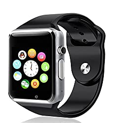 Karbonn S25 Klick Compatible and Certified Bluetooth Smart Watch with SIM Card Slot And NFC Cell Phone Watch Phone Remote Camera ( Get Mobile Charging Cable worth Rs 239 FREE & 180 days Replacement Warranty )