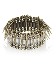 Limited Edition Diamanté & Spike Stretch Bracelet
