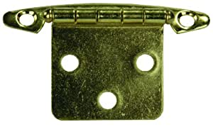 JR Products 70615 Brass Free Swing Flush Mount Hinge