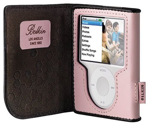 Belkin Leather Folio for iPod nano 3G (Cameo Pink/Chocolate)
