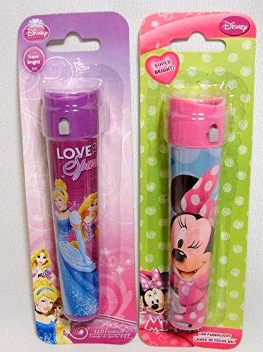 Bundle - 2 Items: Disney Princess LED Flashlight - Love to Sparkle and Minnie Mous - 1