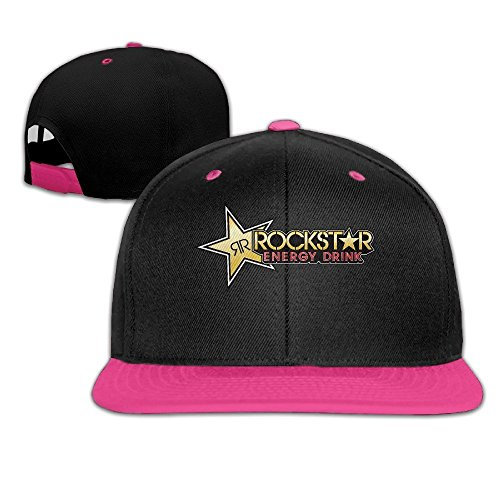 Cool Rockstar Adjustable Baseball Hats (8 Colors) Pink (Rockstar Energy Drink Shorts compare prices)