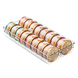 mDesign Canned Cat Food Organizer Tray for Pet Storage - Medium, Clear
