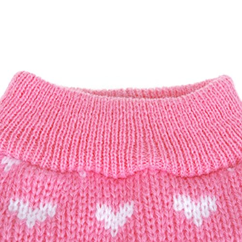 Little Heart Knitting Pattern : PanDaDa Puppy Dog Little Heart Pattern Knit Sweater Coat ...