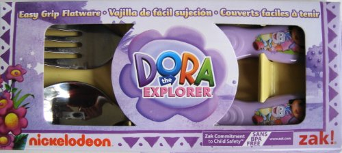 Dora the Explorer Easy Grip Flatware Set Spoon & Fork