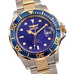 Invicta Diver Mens Two Tone 21 Jewel Automatic Pro Diver 8928