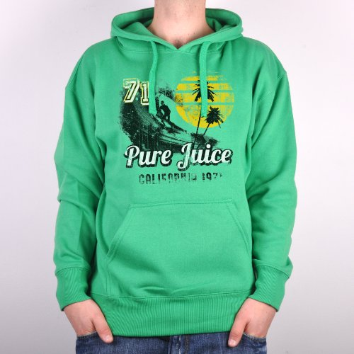 Pure Juice CLASSIC Men's Hoodie - Green - Small