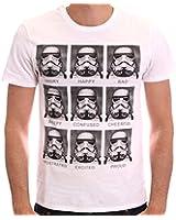 Star Wars Trooper Emotions - T-shirt - Imprimé - Col rond - Manches courtes - Homme