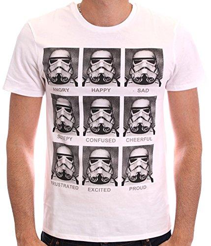 Star Wars - Trooper Emotions, T-shirt da uomo, bianco (blanc), Medium (Taglia Produttore: M)