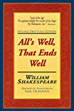 All's Well, That Ends Well: Applause First Folio Editions (Folio Texts) (1557834431) by William Shakespeare