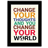 TIED RIBBONS® Inspirational Wall Posters For Living Room With Frame