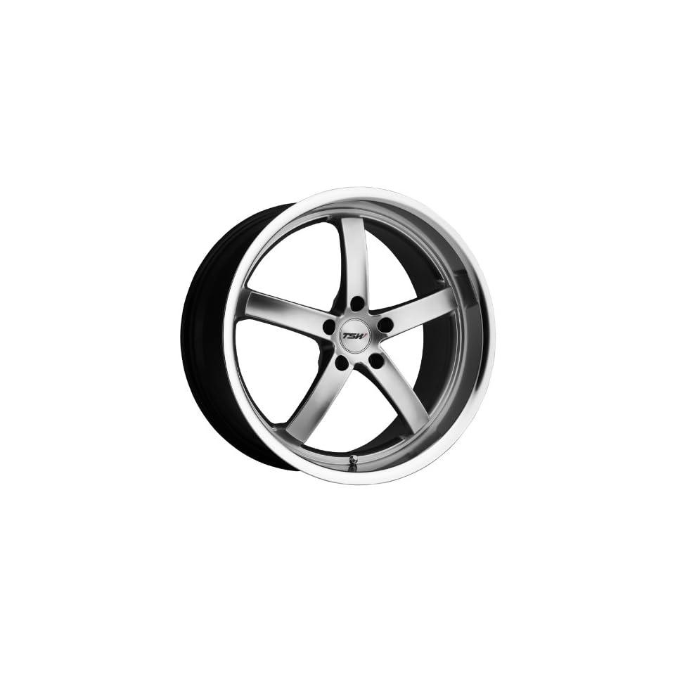 18x8 TSW Nogaro (Hyper Silver w/ Mirror Lip) Wheels/Rims 5x100 (1880NOG355100S72)