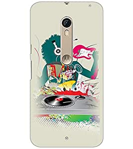 PrintDhaba Abstract Design D-3044 Back Case Cover for MOTOROLA MOTO X PURE EDITION (Multi-Coloured)
