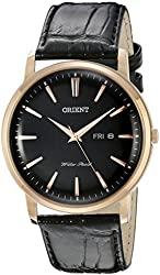 Orient Men's FUG1R004B0 Capital Analog Display Japanese Quartz Black Watch