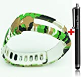 Smart Tech Store Army Camouflage Green Replacement Band With Clasp for Garmin Vivofit Only /No tracker/ Wireless Activity Bracelet Sport Wrist band Garmin Vivo fit Bracelet Sport Arm Band Armband