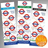District Line Mini Marks 6 Magnetic Page Marks London Underground Bookmarks