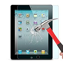 OMOTON iPad 2/3/4 Glass Screen Protector - Tempered Glass with [2.5D Round Edge] [9H Hardness] [Crystal Clear] [Scratch Resist] [No-Bubble]