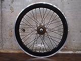 ブラック 20インチ ※自転車ホイール リアホイール単品 シングルスピード ピストバイク ミニベロ